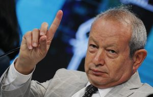 Egyptian billionaire Sawiris, chairman of Orascom TMT Holding, speaks during the Egypt Economic Development Conference (EEDC) in Sharm el-Sheikh, in the South Sinai