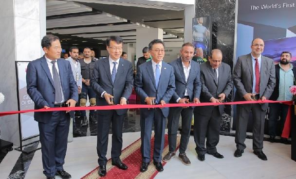 جانب من افتتاح المقر الجديد لشركة إل جي